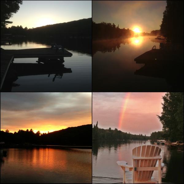 Sunset views - Gorgeous Lake Front Cottage Haliburton Drag Lake G - Haliburton - rentals