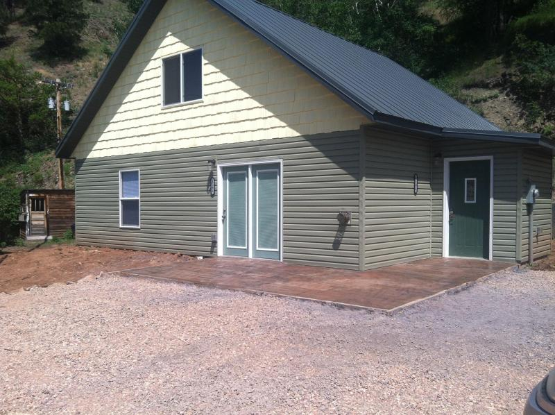 Patio area, perfect for grilling or enjoying the cool SD nights. - Chipmunk Ridge - Deadwood - rentals