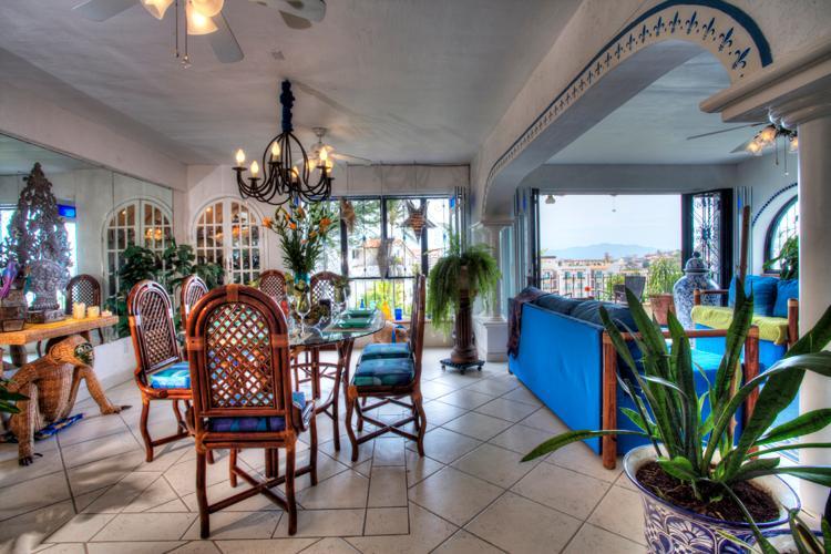 Main living area - Exclusive condo in Romantic Zone of Puerto Vallarta - Puerto Vallarta - rentals