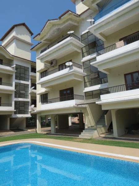1 Front Of Apartment - 35) Modern one bed Siolim apartment Sleeps 2/4 - Saligao - rentals