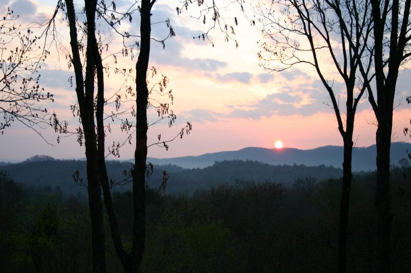 View from the deck. Each morning the cabin has the most BEAUTIFUL SERENE SUNRISE - Serene Sunrise From $69 p/nt - Cherry Log - rentals