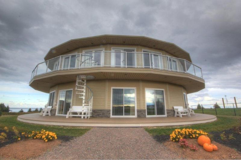 Front view of Rotating House  (4 condos on bottom floor) - Canada's Rotating House, Suites, & Tours - North Rustico - rentals
