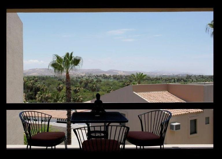 Estuary view from main floor deck with outdoor bistro seating - Gorgeous 2-Bd Condo with Magnificent Estuary Views - San Jose Del Cabo - rentals