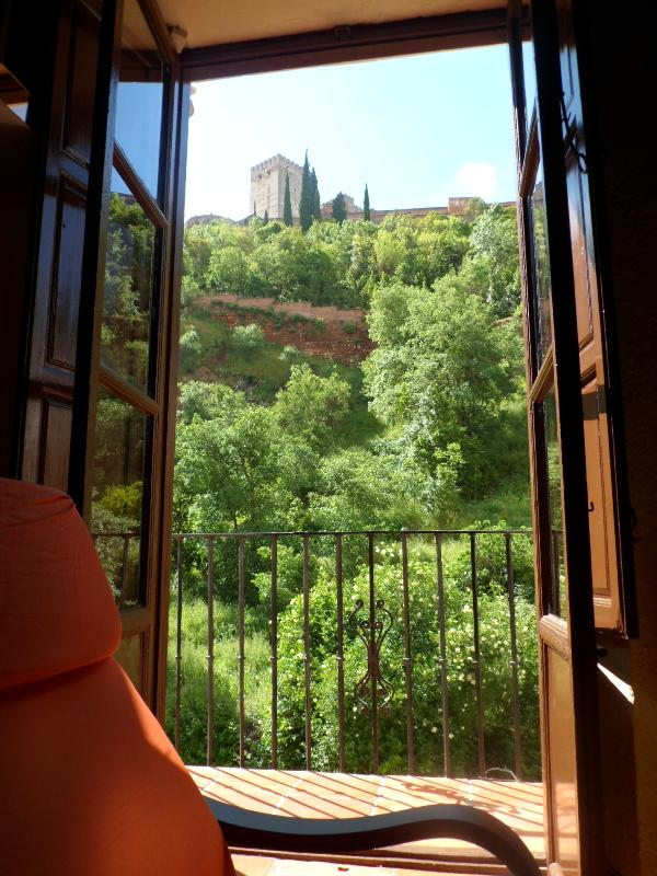 balcony view - Charming flat  amazing view  XVI ct. house Granada - Granada - rentals