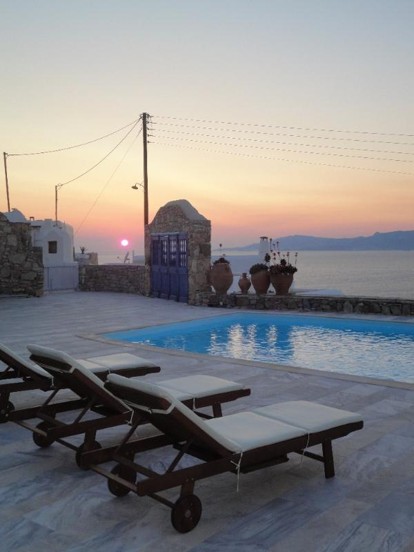 SunSet View from the villa - Villa In Mykonos With Magnificent Sea View - Mykonos - rentals