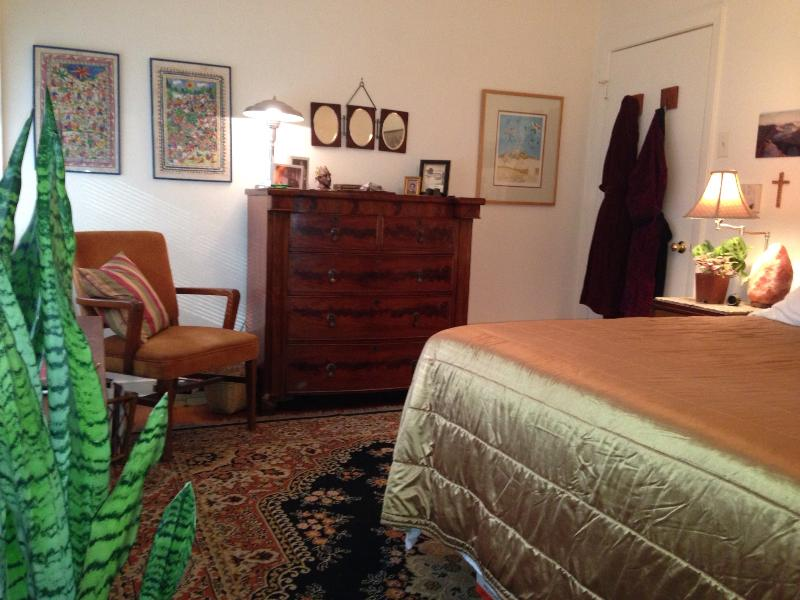 Your room is beautifully furnished  with antiques, plants, and art - B&B with pool - 1 Night OK-MedCtr-RiceU-Reliant - Houston - rentals