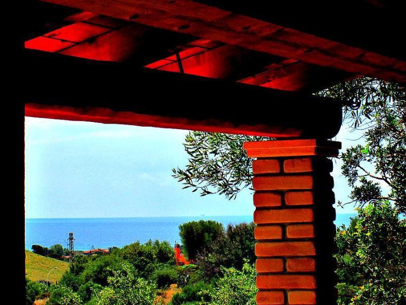Sea view from the porch - Wonderful house in Solanas-Villasimius Sardinia - Cagliari - rentals