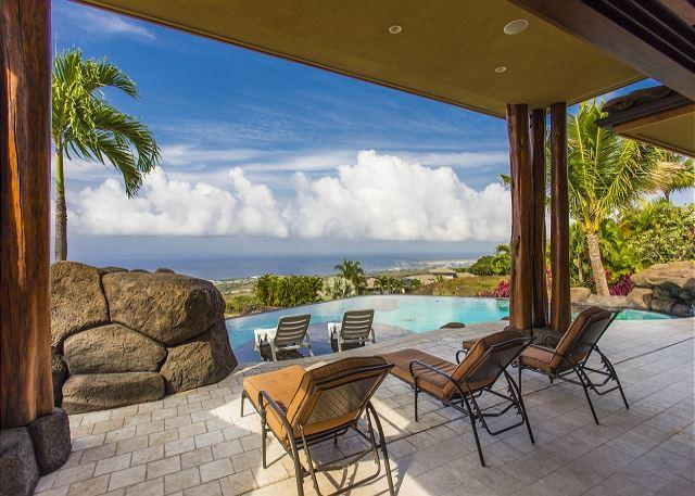 Private Infinity Pool with 180 degree Coastline Ocean Views - IO Way -Gorgeous 4 Bedroom, 3 Bathroom Gated Home with Magnificant Views!-PH IOWay - Kailua-Kona - rentals