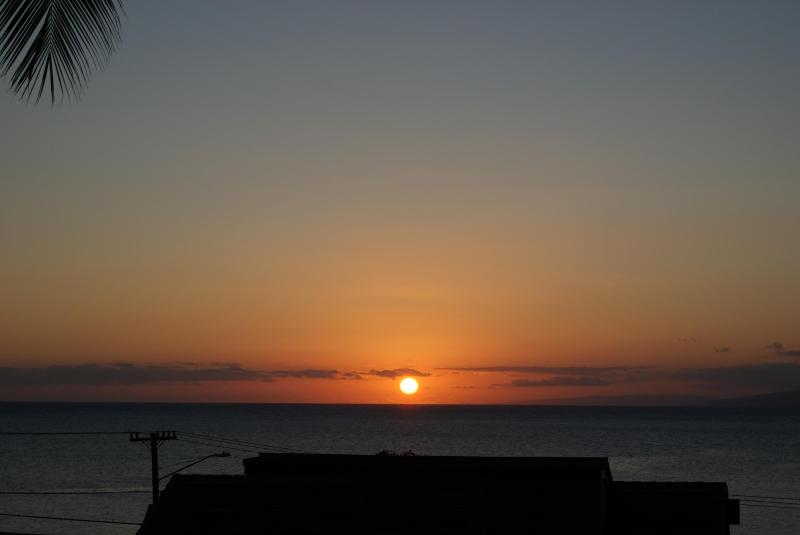 Sunset View from the Lanai of Kahana Villa F-404 - Super West Maui Ocean View - Lahaina - rentals