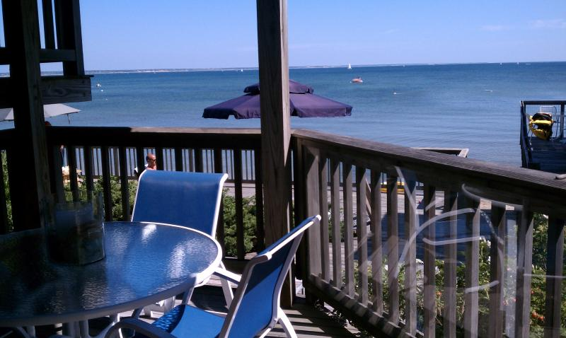 Private Deck- comfortable seating for 6 - Quiet East End Beachfront Getaway - Provincetown - rentals