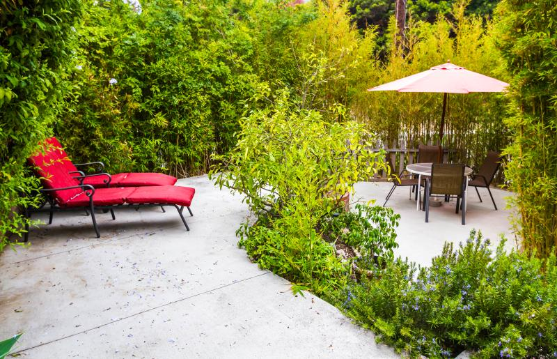 Private Yard with lounge chairs - Walk to Beach and Village, Large private Yard - Laguna Beach - rentals