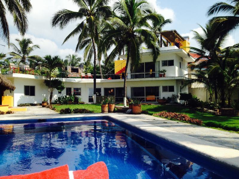 Casa from the ocean - Ocean front San Patricio, Jalisco Méx: La Mansión - San Patricio - rentals