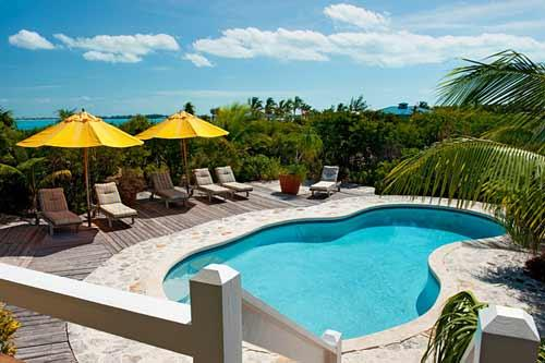 A photograph of the private swimming pool at Reef Beach House, Providenciales (Provo), Turks and Caicos Islands, BWI. - Reef Beach House on world famous Grace Bay Beach! - Providenciales - rentals