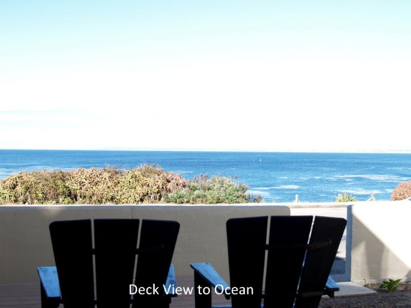 Deck with View to Ocean (1st Floor) - Ocean Magic Awaits with Awesome Ocean Views in a Central Location - Pacific Grove - rentals