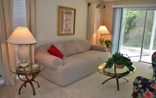 Living Room and Sitting Area - Great 2BR golf villa, True Blue, many pools/WiFi - Pawleys Island - rentals