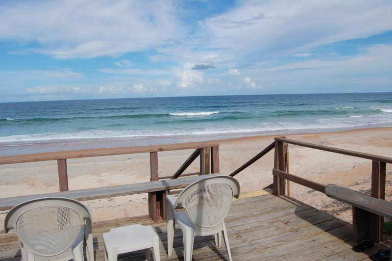 Enjoy our private ocean deck - Mako Beach Surf House - with garage & pool - Ormond Beach - rentals