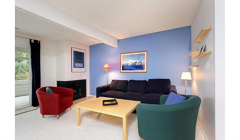 Spacious living room with queen pull-out sofa - Comfortable & Contemporary Spacious Condo Home - Redmond - rentals