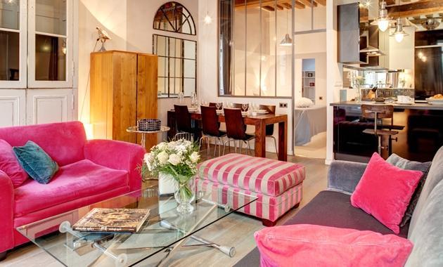 Parisian Terrace Apartment Paris apartment 2nd arrondissement, 2 bedroom short term rental Paris, central Paris flat to let, holiday rental Paris - Image 1 - 2nd Arrondissement Bourse - rentals