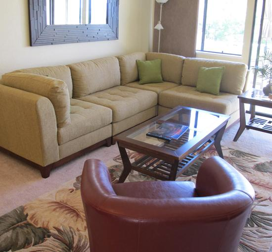 Spacious living room, incredibly comfortable furniture - Wailea Ocean View, 2Bed, 2Bath Beautiful Update - Wailea - rentals