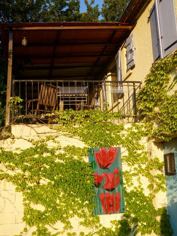 Outdoor dinning area - Amazing house outside Montaigu De Quercy - France - Montaigu-de-Quercy - rentals