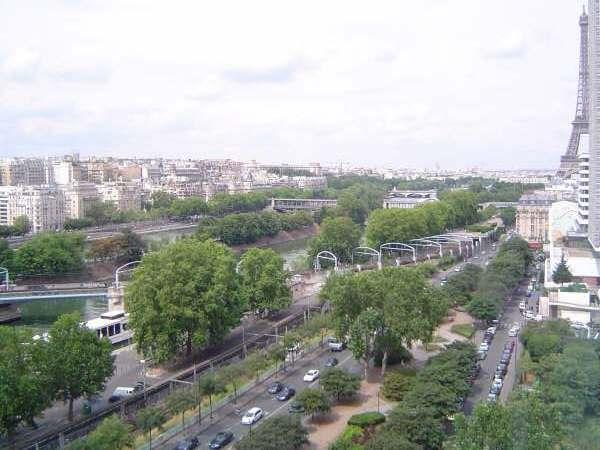 Panoramic view from the rooms - Spectacular view of seine river and Eiffel tower f - Paris - rentals