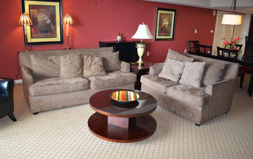 Living room with plush seating - Luxury 2BR 1-1002 @ Yacht Club! WiFi/pool/more!!! - North Myrtle Beach - rentals