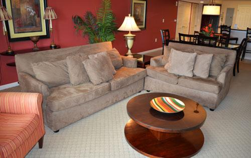 Spacious living area - Lovely 2BR Yacht Club 1-202, giant pool/WiFi!!! - North Myrtle Beach - rentals