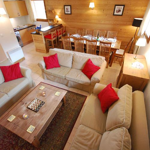 Spacious Living/ Dining Area - Spacious Duplex 4 Bedroom Apartment in French Alps with Magnificent  Views - Morillon - rentals