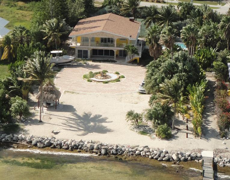 Ariel of Home - Direct Oceanfront Luxury Getaway w/ Pool & Dockage - Marathon - rentals