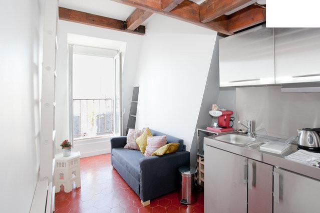 Overall view of the studio - Charming & fully renovated studio with balcony in quartier latin - Paris - rentals