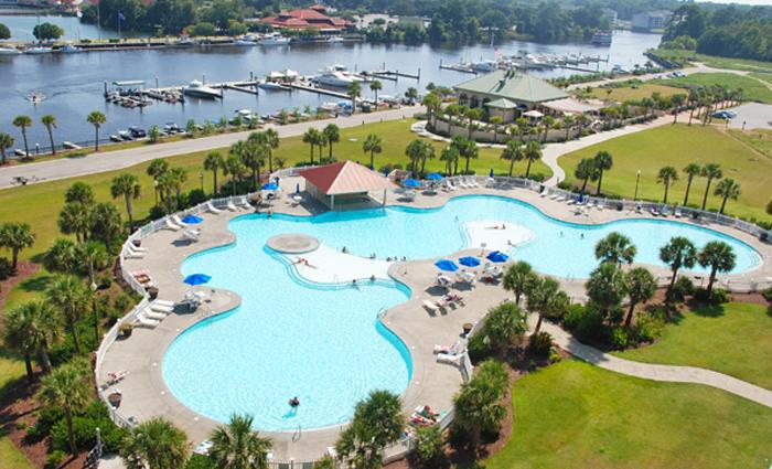 SC's largest outdoor pool, available to Yacht Club guests! - Live it up in luxury! 4BR Yacht Club condo 2-204 - North Myrtle Beach - rentals