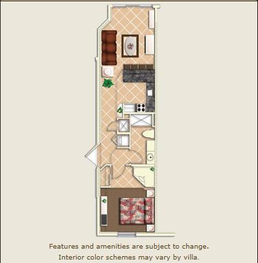 Villa Layout - Mystic Dunes 1 bedroom Villa Thanksgiving Week - Celebration - rentals
