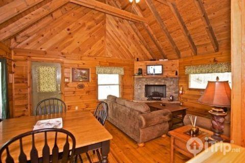 LIving Room / Dining Area - Townsend Cabin #5  Blueberry Hill - Townsend - rentals