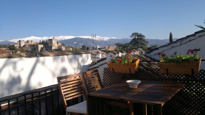 terrace - ALBAICÍN HOUSE PARKING FREE. ALHAMBRA VIEWS. WIFI - Province of Granada - rentals