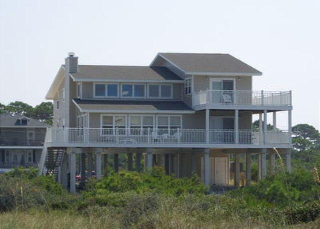 View of your vacation house Do-Me-Good from the beach road. - Do Me Good - Cape San Blas - rentals