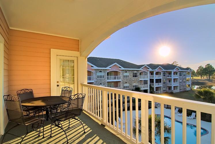 Private balcony - Stunning 2BR Villa @ Myrtlewood Pools/Lazy River/Gym/Golf - Myrtle Beach - rentals