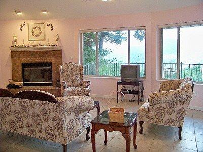 View of living room from bedroom - NC 1 Bdrm Mountain Rental Round House Upper Level - Burnsville - rentals