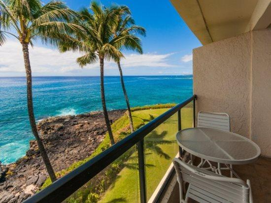 Lanai - PS302A, Oceanfront condo with spectacular ocean views, ocean front heated pool, bbq and free rental car - Poipu - rentals