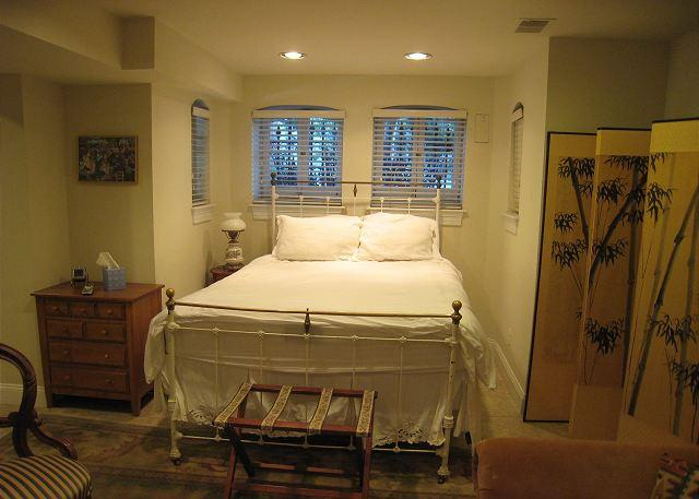 Double bed - Spacious studio near Metro, private entrance, kitchen, foldout sofa - Washington DC - rentals