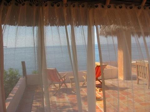 View from Bedroom - Romantic Remote Eco Beach Palapa House - Puerto Vallarta - rentals