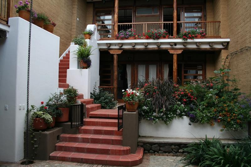 From the courtyard, loft studio 'Guanaco' is on the right of the balcony - Loft studio, historic Cuenca - Cuenca - rentals