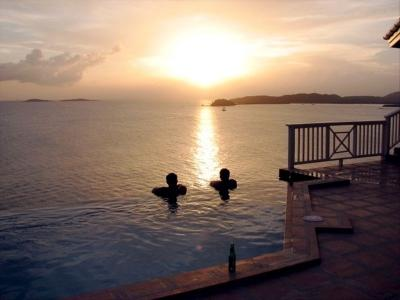 Happy Hour in the pool - Sans Sou Sea, St. Thomas Sunset View - Red Hook - rentals