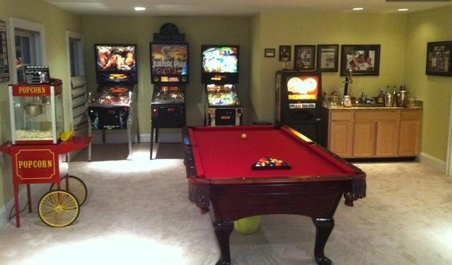 Entertainment Area complete with Pool Table, Pin Ball Machines and real popcorn machine - Celebration™ Retreat! a fun venue in Wine Country - Front Royal - rentals