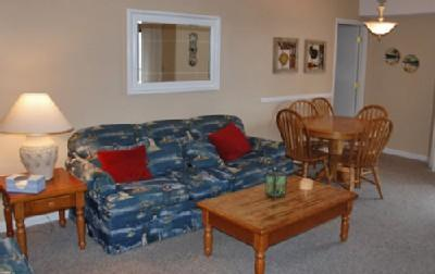 Living room with sleeper sofa - OCEANVIEW 2BR, POOLS/JACUZZIS @ MB RESORT - RT717 - Myrtle Beach - rentals