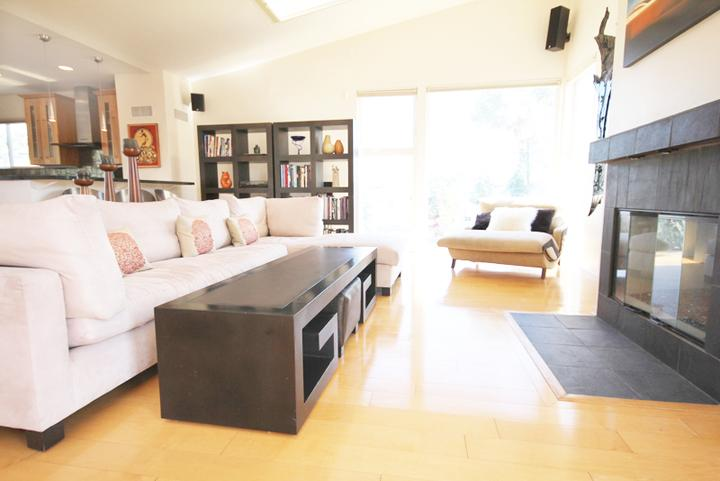 View of the main living areas coming from the stairs. - Venice Luxury: Overlooking the Canals - Los Angeles - rentals