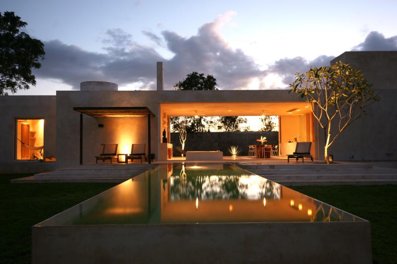 Early evening at Casa Sisal - Casa Sisal- Exclusive Contemporary Country Home - Merida - rentals