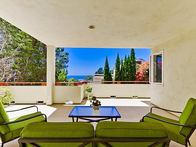 Private deck with ocean view - Guest Studio Ocean & Lagoon Views - Del Mar - rentals