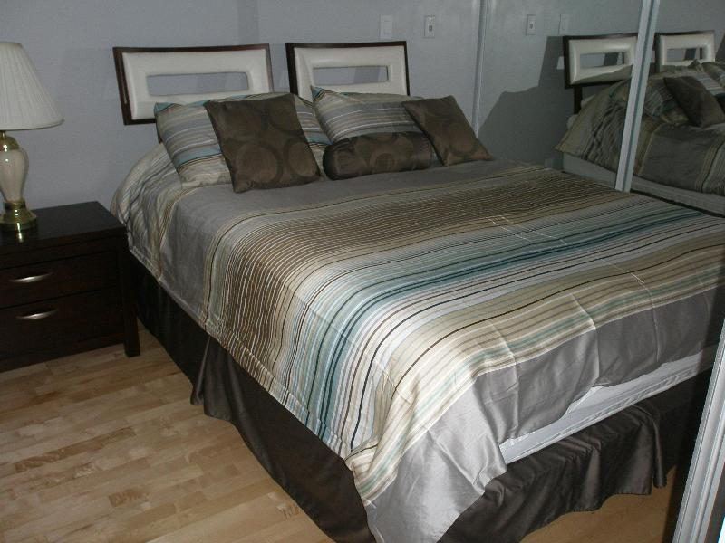 Luxurious Queen Size Bed Matching Dresser - Furnished Suite Downtown Toronto Better Than  Hote - Toronto - rentals
