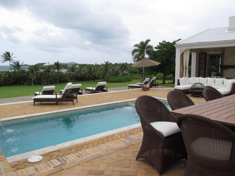 pool area looking at beach - The KING House on Shoy Beach - Christiansted - rentals