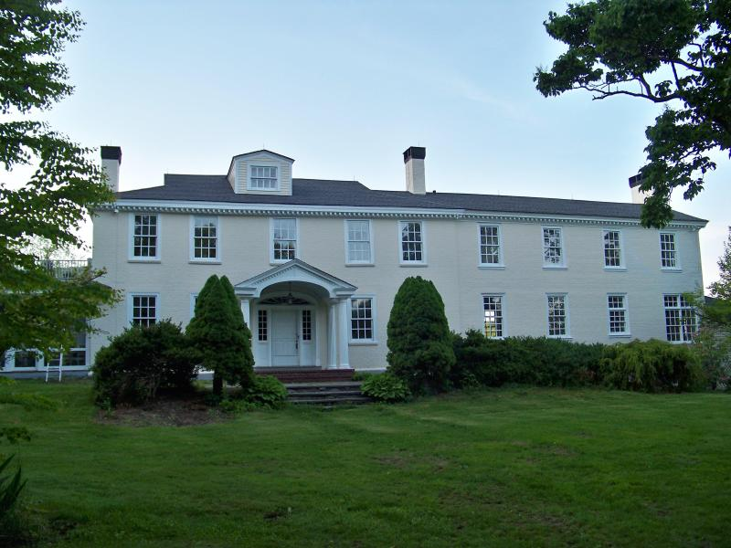 Front of Elegant Country Estate, Brick, circa 1800 - Elegant Mountainside Country Estate - Jaffrey - rentals